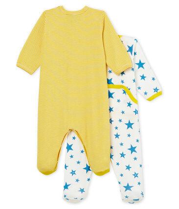 Duo tutina pigiama bebè unisex a costine