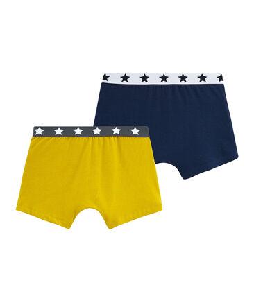 Duo boxer ragazzo in cotone stretch