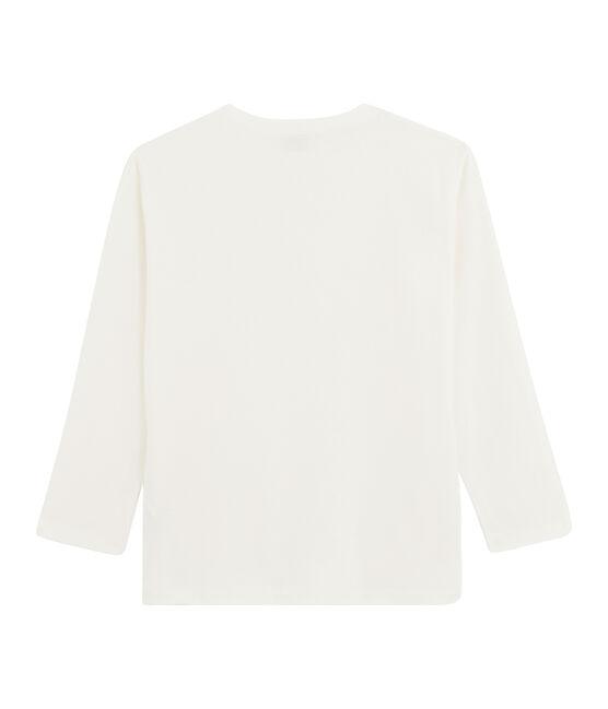 T-shirt a maniche lunghe bambino bianco Marshmallow