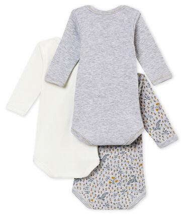 Lotto di 3 bodies s maniche lunghe per bebé femmina