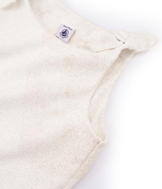 Canottiera bambina bianco Marshmallow / rosa Copper