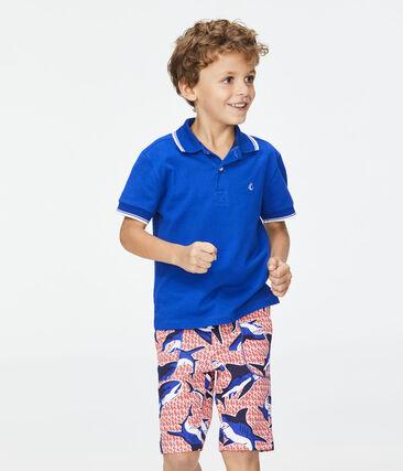 Polo bambino blu Surf