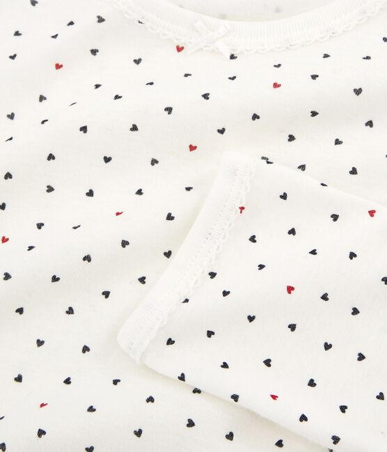 Pigiama bambina a costine bianco Marshmallow / bianco Multico