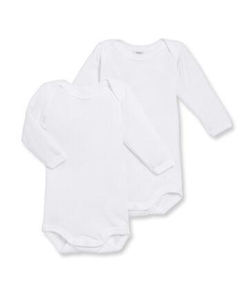 Duo body a manica lunga bebè maschio bianco Marshmallow