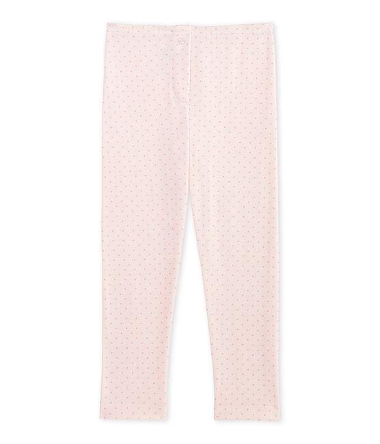 Legging bambina in lana e cotone rosa Vienne / rosa Gretel