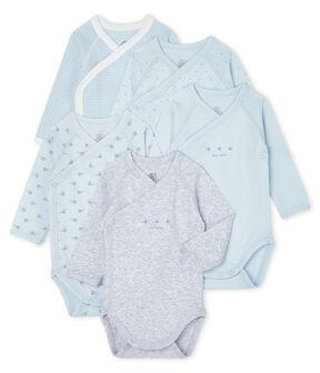 Confezione da 5 body nascita manica lunga bebè lotto .