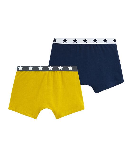Duo boxer bambino in cotone stretch lotto .