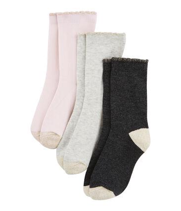 Confezione da 3 paia di calzini bambina