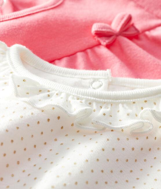 Confezione da 2 t-shirt bebè femmina lotto .