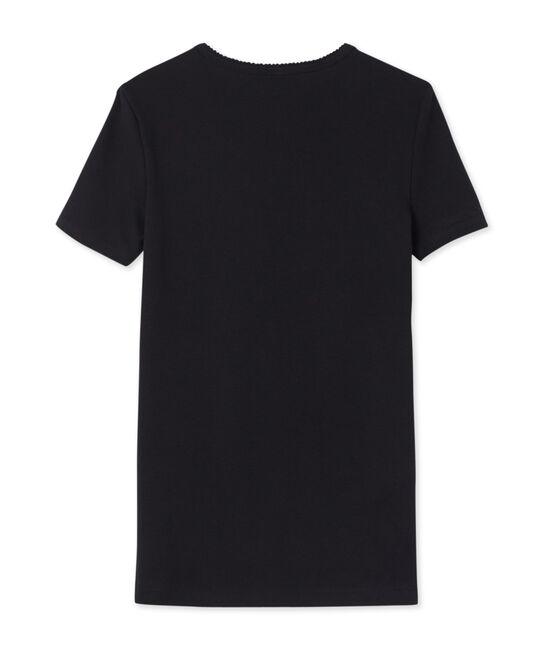 T-shirt maniche corte tinta unita donna nero Noir