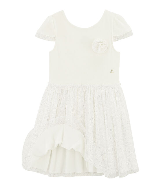 Abito da cerimonia bambina bianco Marshmallow