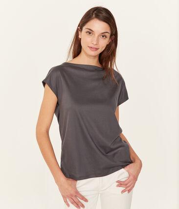 T-shirt maniche corte donna in cotone sea island