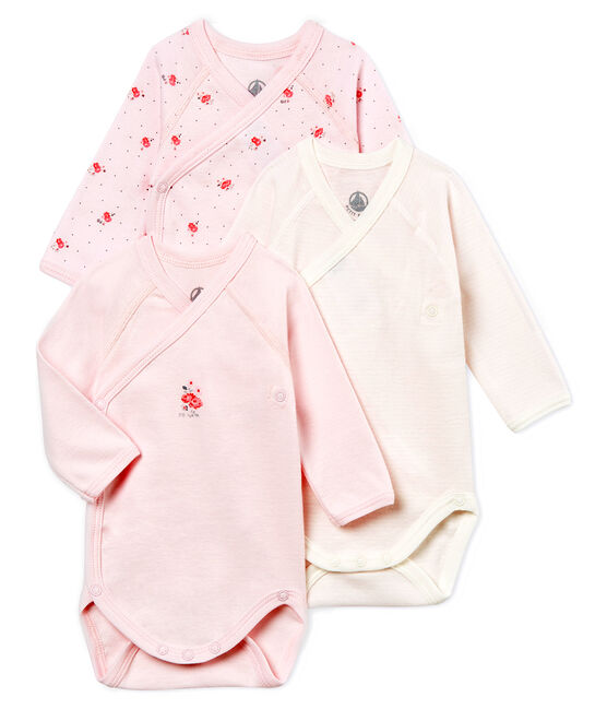 Confezione da 3 body nascita manica lunga bebè unisex lotto .