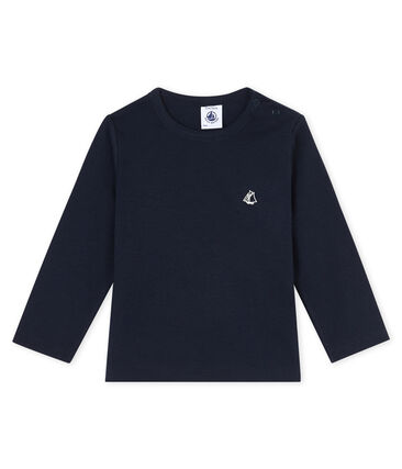 T-shirt a manica lunga bebè maschio blu Smoking