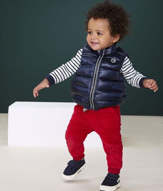 Pantalone bebè maschio in velluto rosso Terkuit