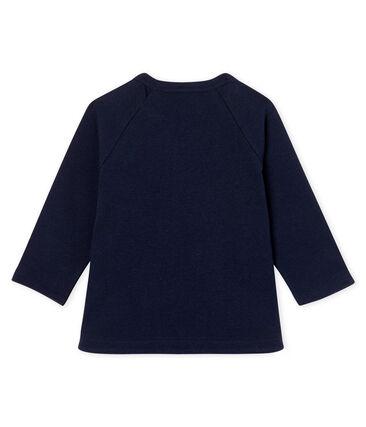 T-shirt a manica lunga bebè femmina blu Smoking