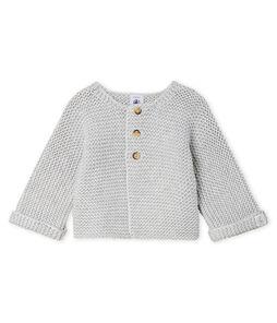 Cardigan in lana e cotone a punto legaccio bebè femmina