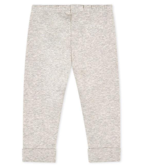 Pantalone bebè maschio in maglia grigio Beluga