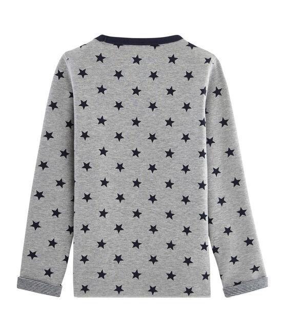 T-shirt calda e reversibile bambino grigio Subway / blu Smoking