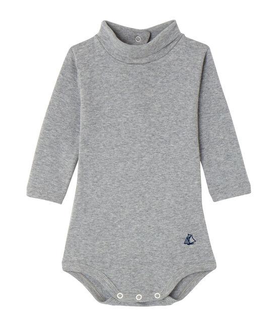 Body collo alto per bebé unisex grigio Subway