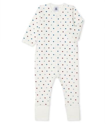 Tutina con piedini reversibili bebé maschio bianco Marshmallow / bianco Multico