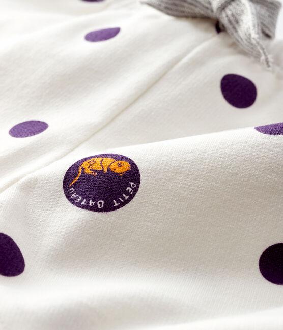 Pantalone bebè femmina in molleton bianco Marshmallow / bianco Multico