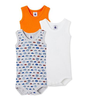 Lotto di 3 bodies bebè bambino senza maniche