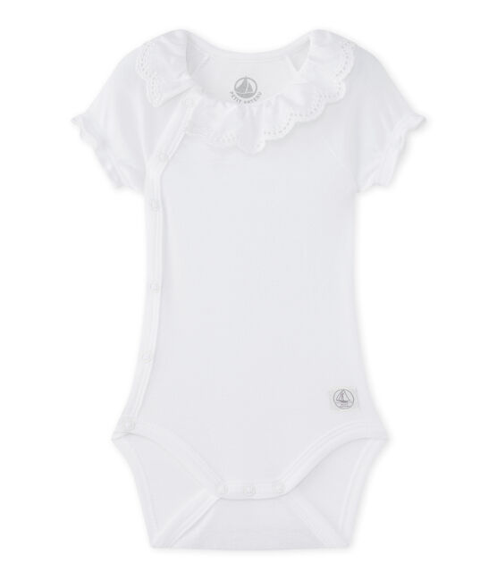 Body nascita per bebé femmina bianco Ecume