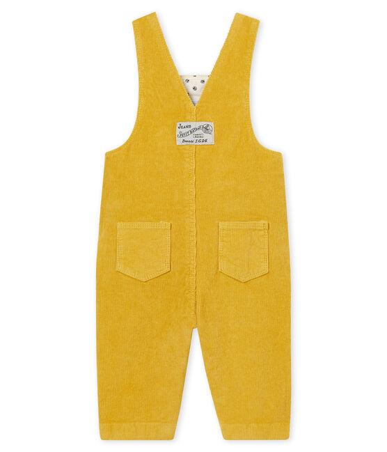 Salopette in velluto bebé maschio giallo Ocre