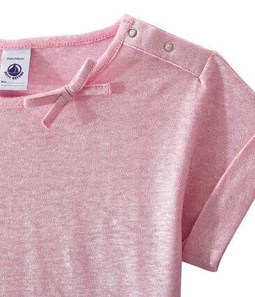 T-shirt per bambina rosa Babylone / grigio Argent