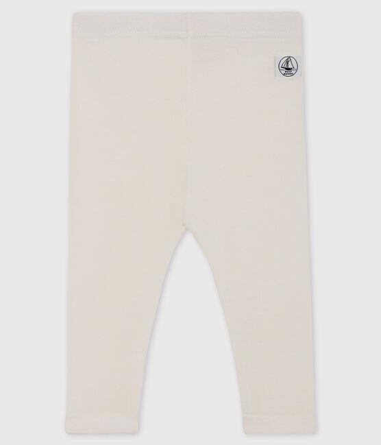 Ghettine bianche neonato in lana e cotone bianco Marshmallow