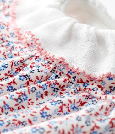 Abito body fantasia bebè femmina bianco Marshmallow / rosso Terkuit