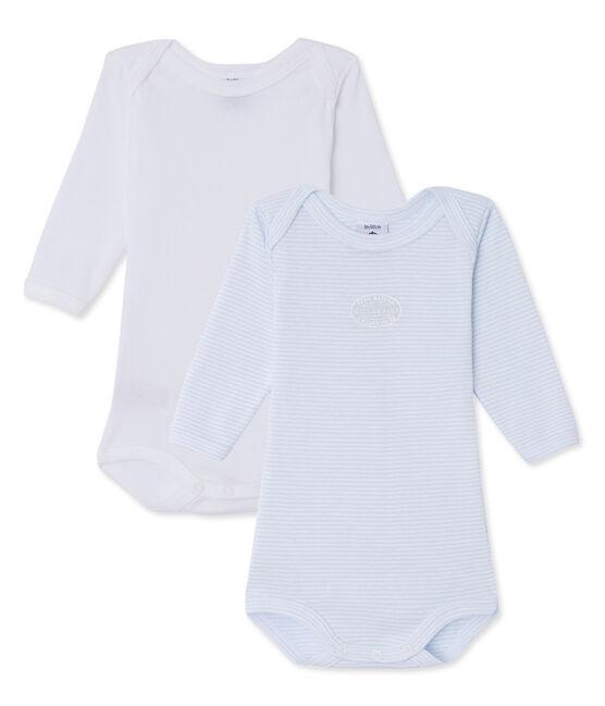 Lotto di 2 body per bebè maschio a maniche lunghe lotto .