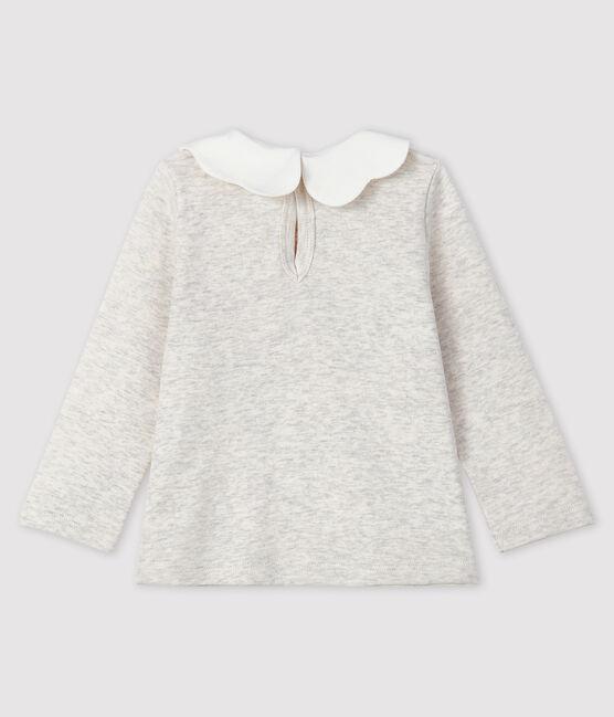 Blusa a manica lunga bebè femmina grigio Montelimar Chine