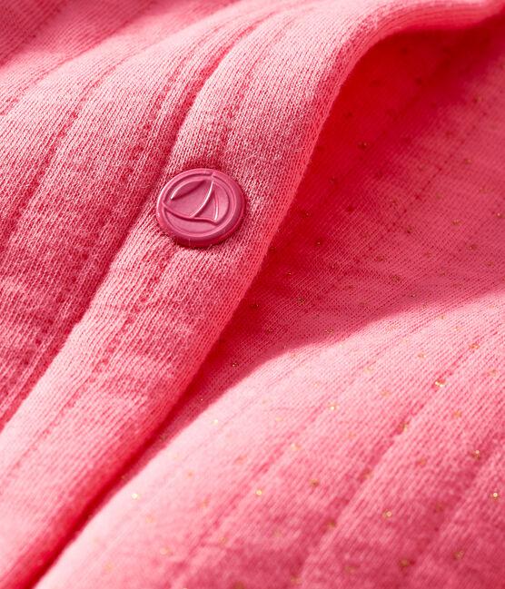 Cardigan bebè femmina in tubique trapuntato rosa Cupcake