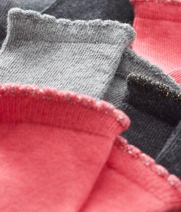 Confezione da 5 paia di calzini basici bebè femmina lotto .