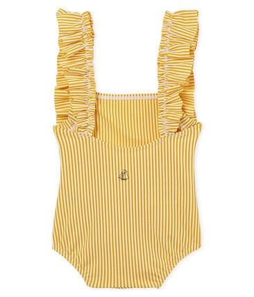 Costume intero neonata rigato