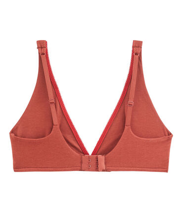 Reggiseno donna in jersey extrafine arancione Ombrie