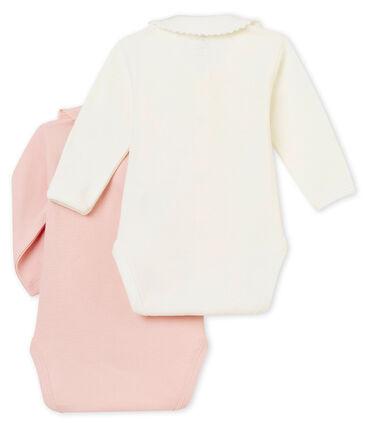 Lotto di 2 bodies ML con colletto per bebé femmina
