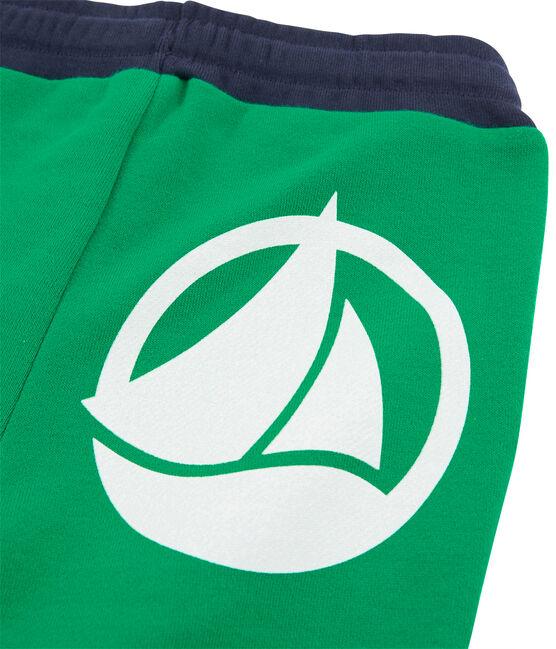 Pantalone in maglia da bambino verde Prado