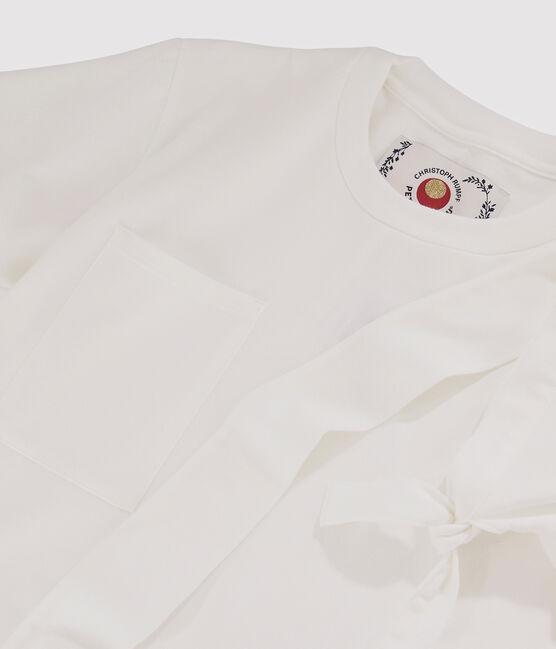 T-shirt Donna/Uomo Christoph Rumpf x Petit Bateau bianco Marshmallow
