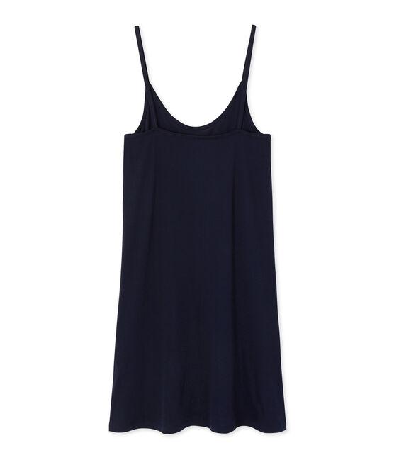 Chemise à bretelles femme en coton léger blu Smoking