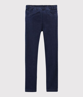 Pantaloni slim in denim bambina blu Denim Bleu Fonce