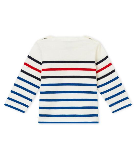 tee-shirtrigata per bebé maschio bianco Marshmallow / bianco Multico