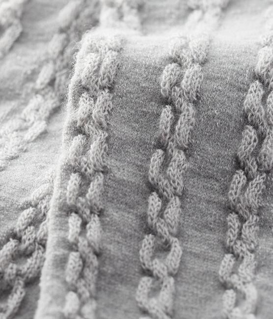 Collant in lana bebè femmina grigio Beluga