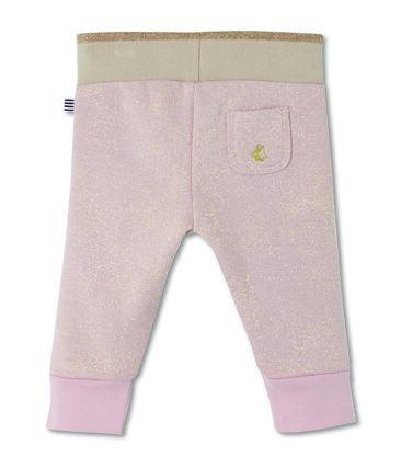 Pantalone in molleton con paillettes per bebé femmina