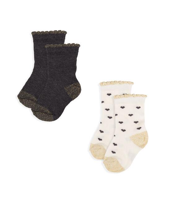 Confezione da 2 paia di calzini bebè femmina lotto .