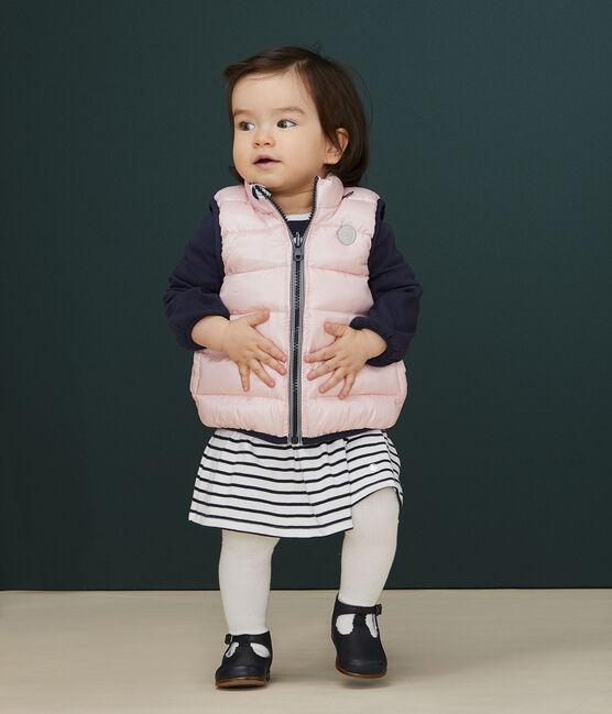 Piumino bebè reversibile rosa Minois