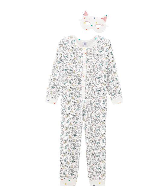Tutina lunga da bambina bianco Marshmallow / bianco Multico