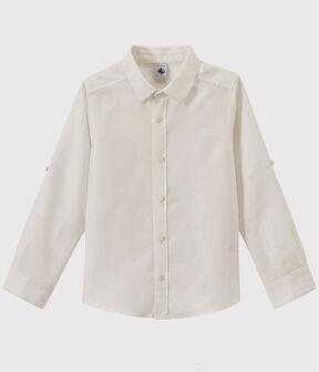 Camicia bambino bianco Ecume